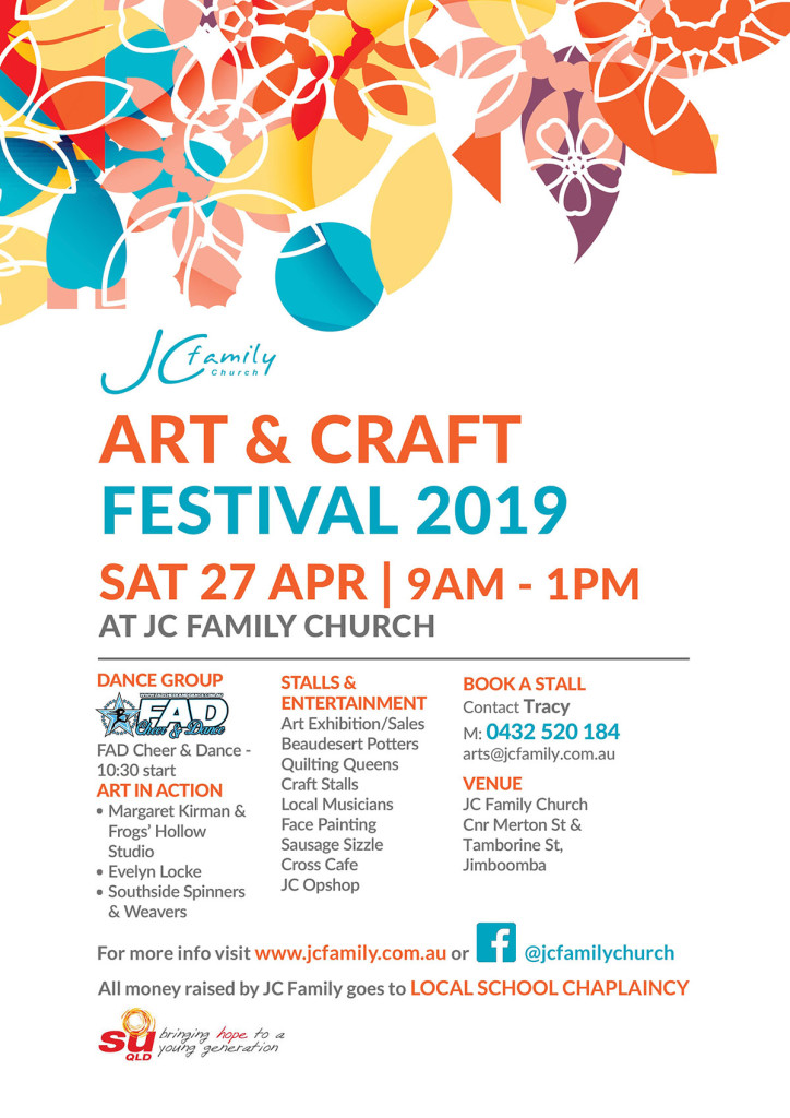 Art & Craft Festival 2019 - JC Family Church, Jimboomba. Raising money for local School Chaplains.