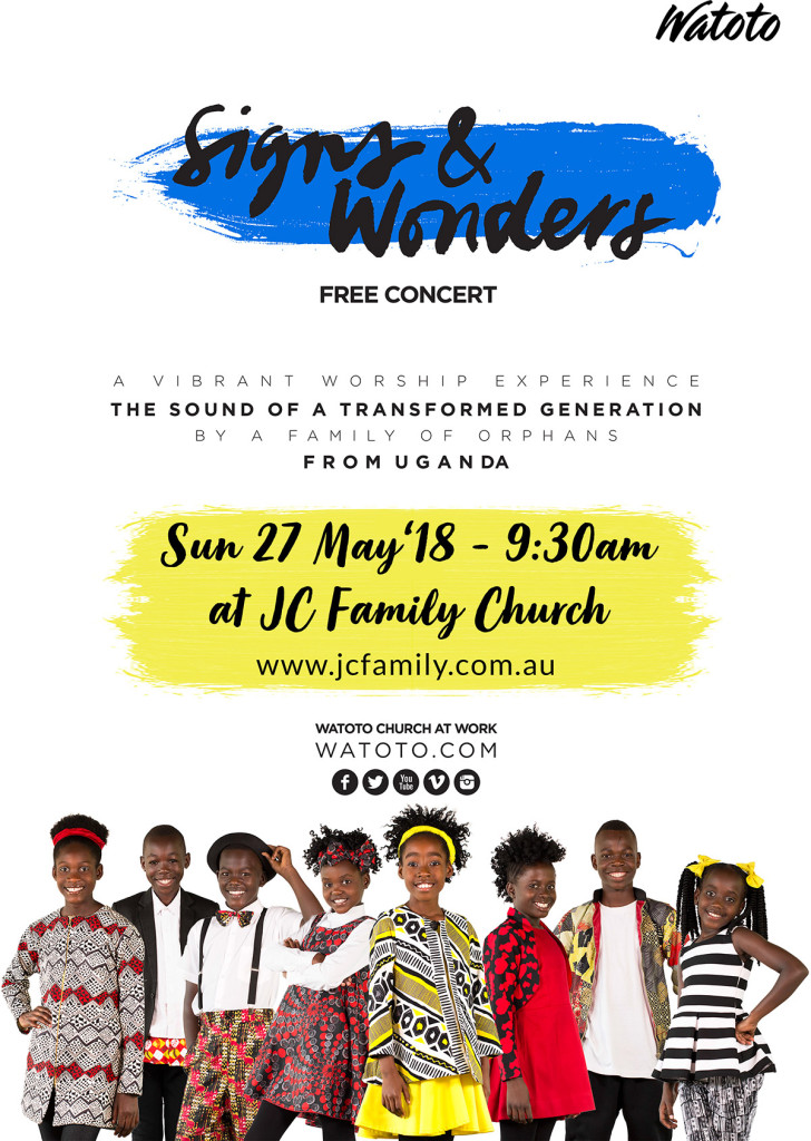 Watoto Children's Choir - Signs & Wonders, performing at JC Family Church Jimboomba, Queensland, Australia