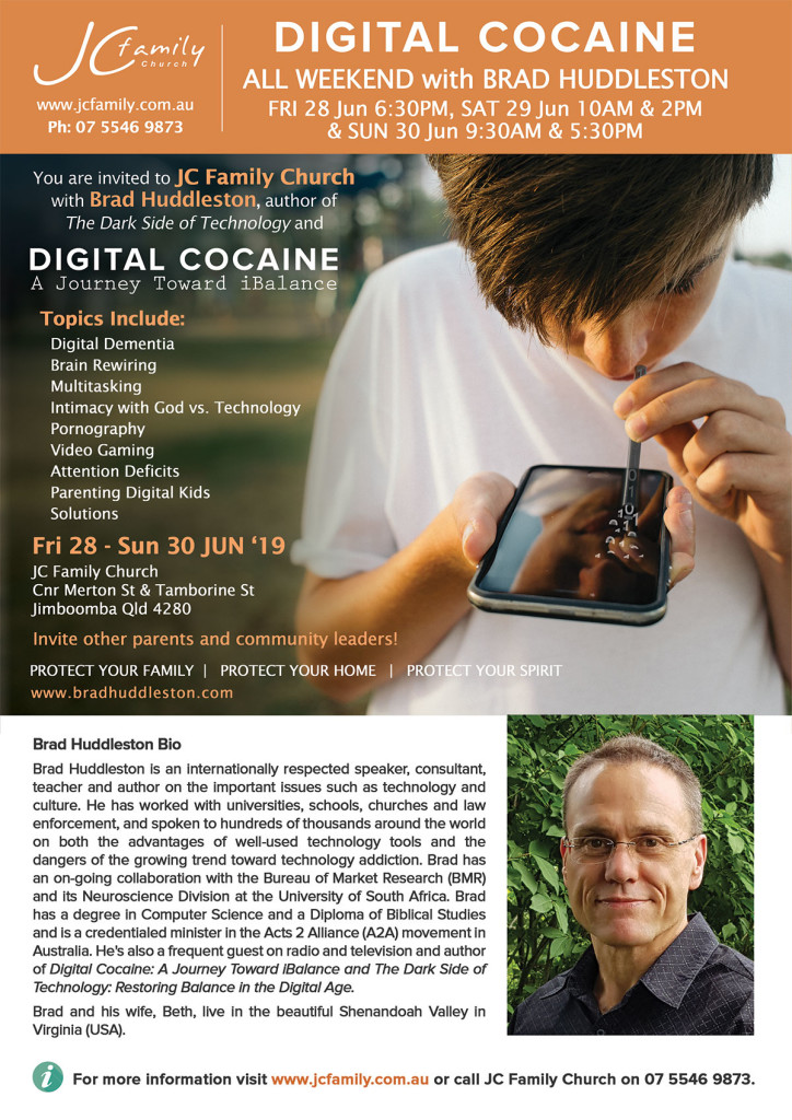 Digital Cocaine - Brad Huddleston - Hosted by JC Family Church 2019, Jun 28-30, 2019
