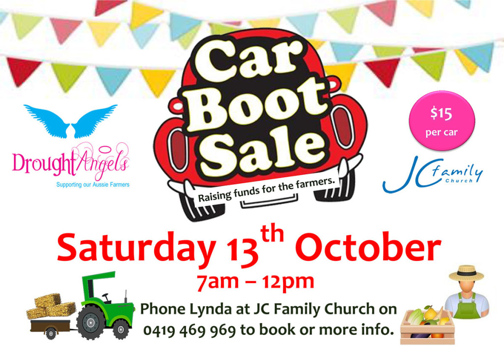 Raising Money For The Farmers - Car Boot Sale, JC Family Church, Jimboomba, Logan, Qld, Australia