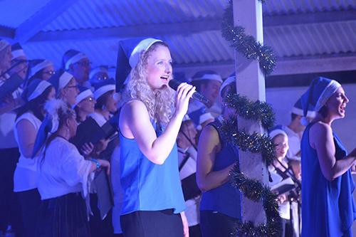 Jimboomba Christmas Carols, JC Family Church, Jimboomba. Front line vocals: Sarah Greig, Bec Cragg and Lisa Sharp.