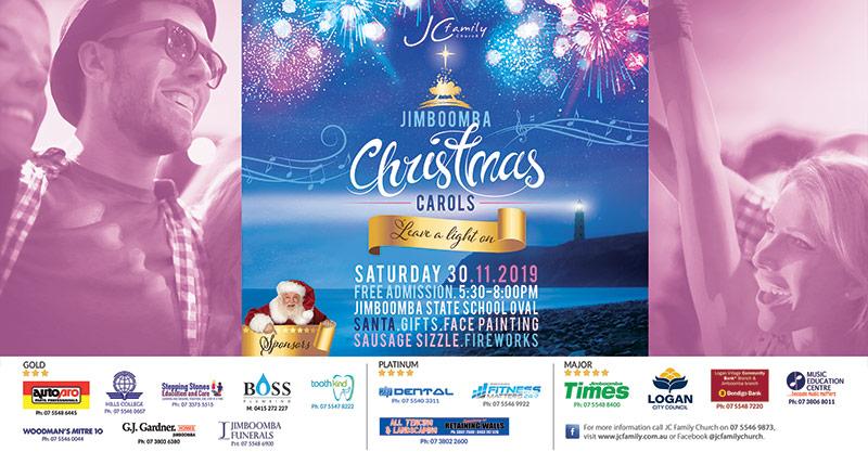 Jimboomba Christmas Carols 2018 - Hosted by JC Family Church. Date: Carols has been postpone until 2021 November. width=